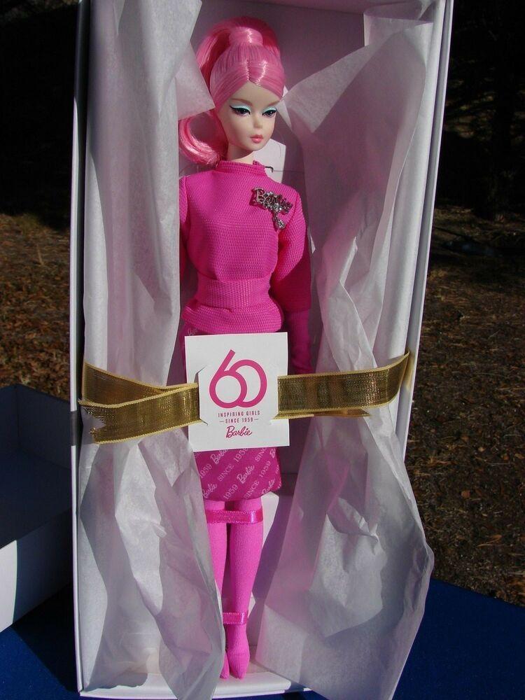 c74b9bbf06f27 PROUDLY Pink BARBIE Silkstone 60th ANNIVERSARY 2018 New IN STOCK ...