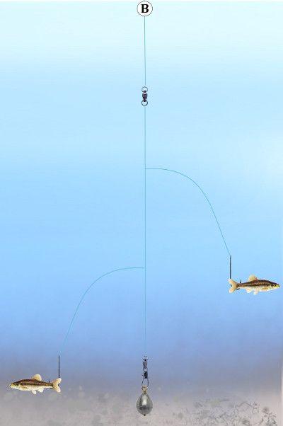 Fishing tandem kentucky rig fishing pinterest for Fly fishing rig