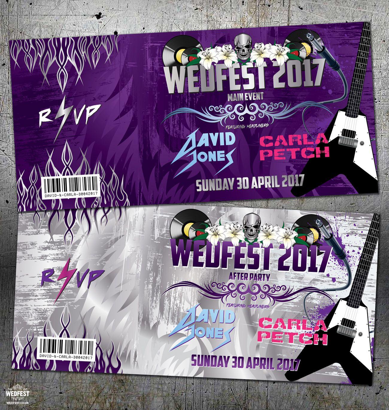 rock music guitar heavy metal wedding invites http://www.wedfest ...