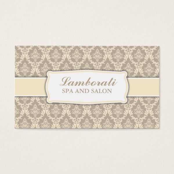 Elegant professional damask interior decorator business card businesscards templates also rh pinterest