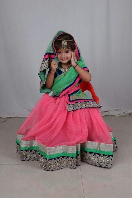 Cute baby with fantastic lehenga