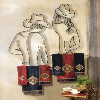 Rustic Bathroom Decor Accessories Southwestern Plush Towels Shower Curtains And Towel Holders