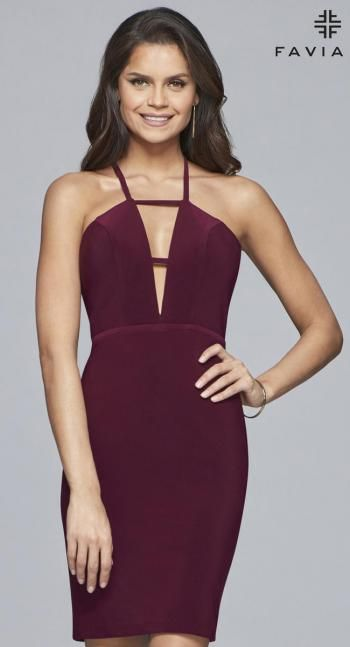 Faviana Glamour Dress S10164 | Terry Costa | Halter ...