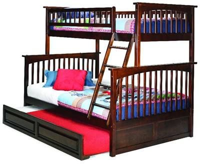 Best Twin Over Double Bunk Bed Trundle Bed Under Bed 400 x 300