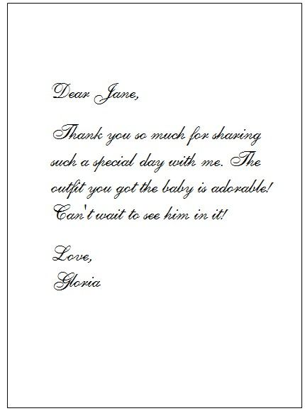 Highly Appreciated Baby Shower Thank You Note Wordings Card