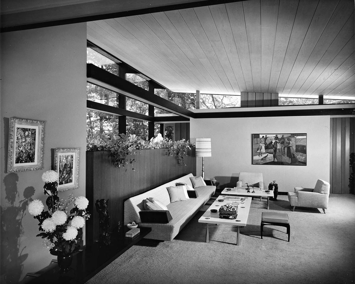 job 2410 rex lotery schacker house beverly hills calif 1957