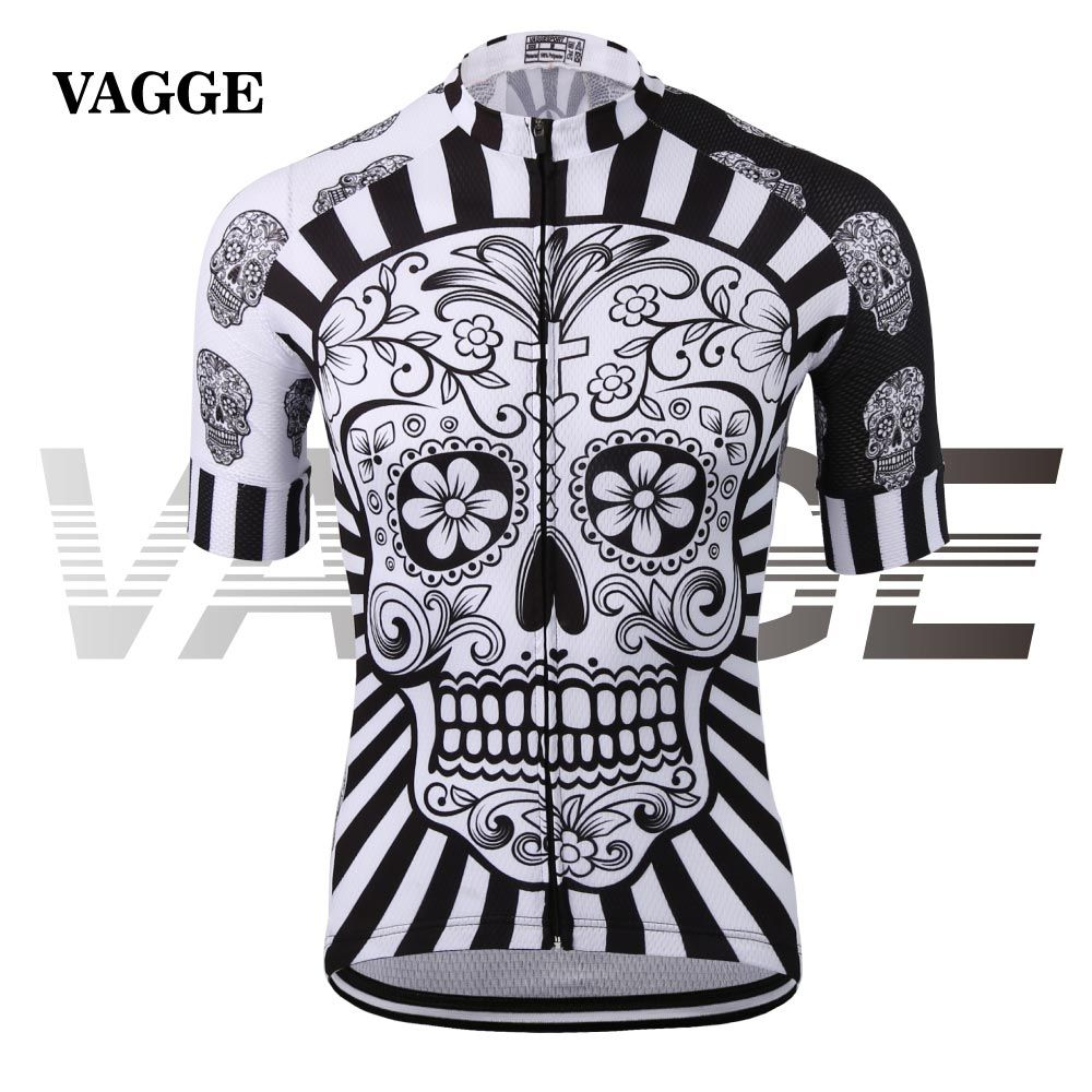 Freedom isn t free cycling jersey - Vagge Skull Sublimation Printing Cycling Jersey Wear Best 2017 Pro Polyester Cycling Clothing Summer