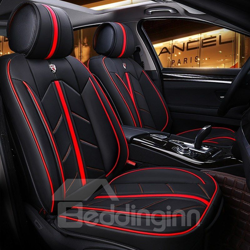Color Blocking Advanced Design Leather Universal Fit Car Seat Cover Car Seats Leather Car Seat Covers Carseat Cover