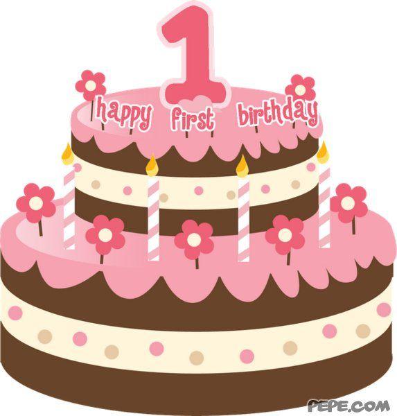 happy 1st birthday cards previous card next card easter rh pinterest com Birthday Cake Clip Art First Birthday Cake Clip Art