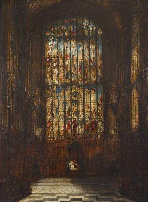 East Window of King's College Chapel, Cambridge Joseph Murray Ince (1806–1859) Oil on millboard, 40.5 x 31 cm.