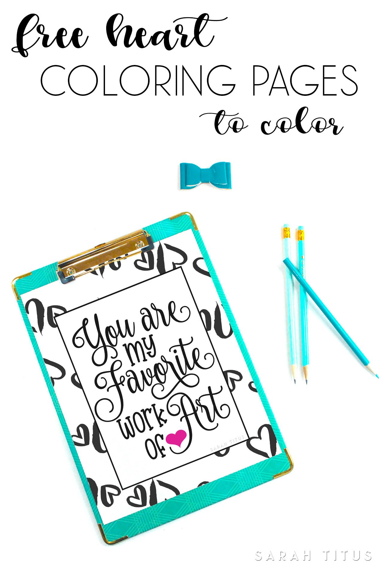 Free Heart Coloring Pages to Color | Frugal and Money Saving Group ...