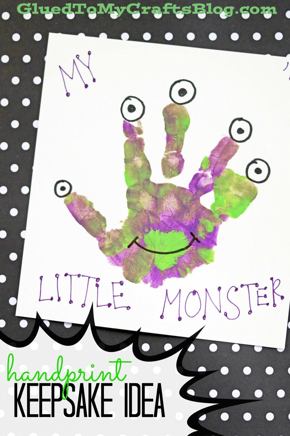 Mommy's Little Monster - Handprint Idea