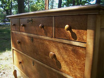 Northern Furniture Co. Why So Valuable? Spectacular Birdseye Maple Antique  Dresser Made In Wisconsin