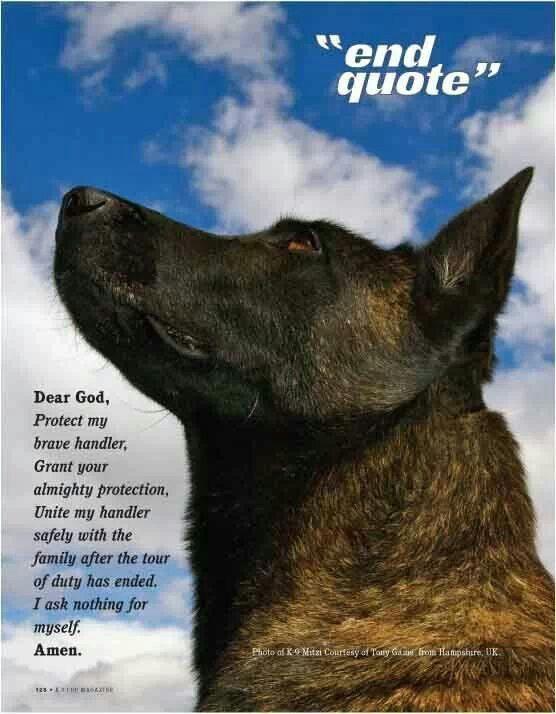 A K 9 Prayer Dear God Protect My Brave Handler K9 Police