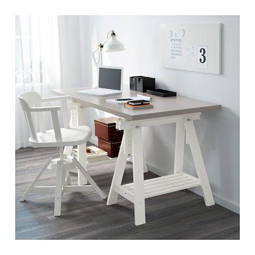 LINNMON / FINNVARD Tisch - grau/weiß - IKEA