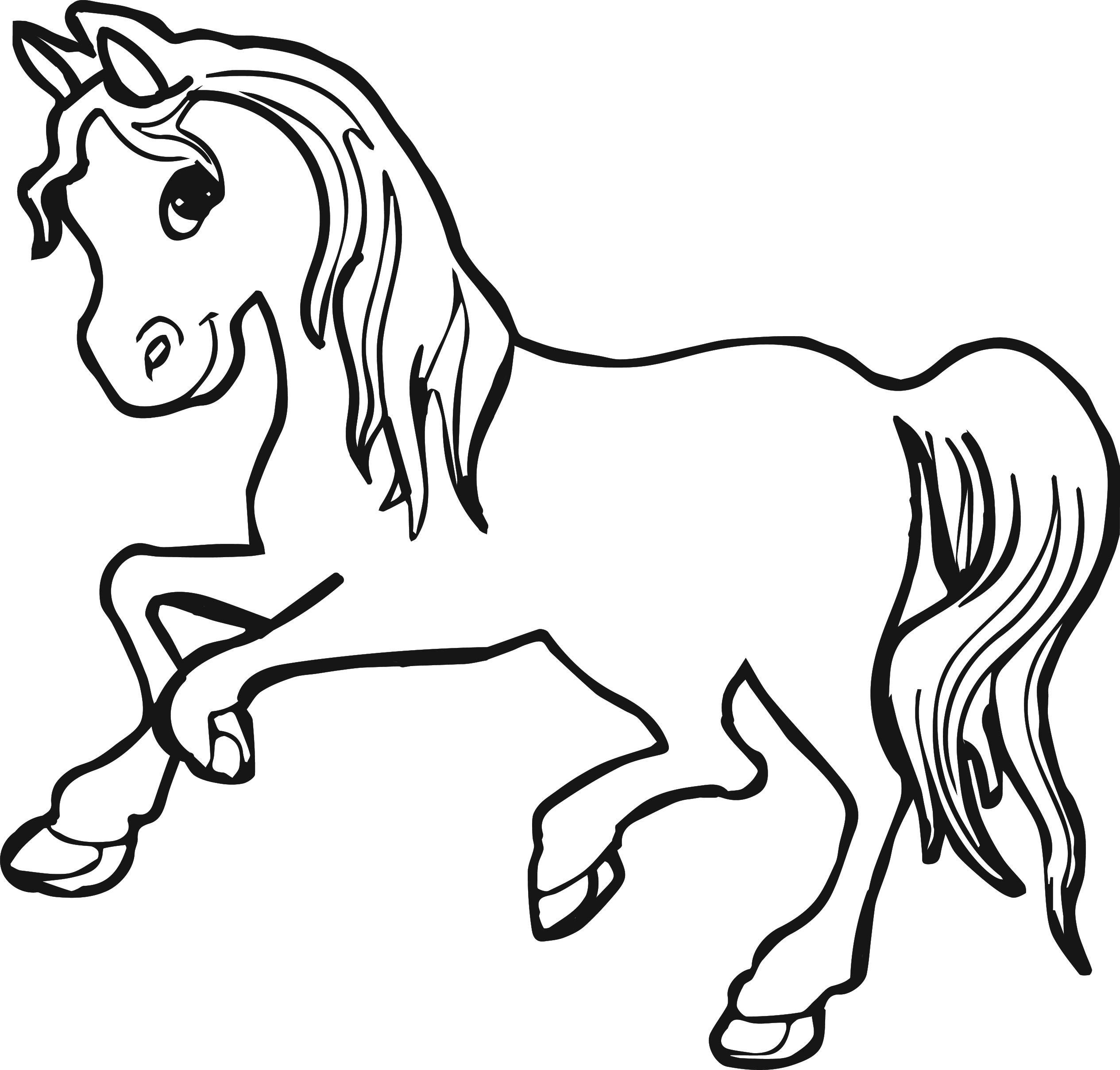 Girl Horse Running Coloring Page