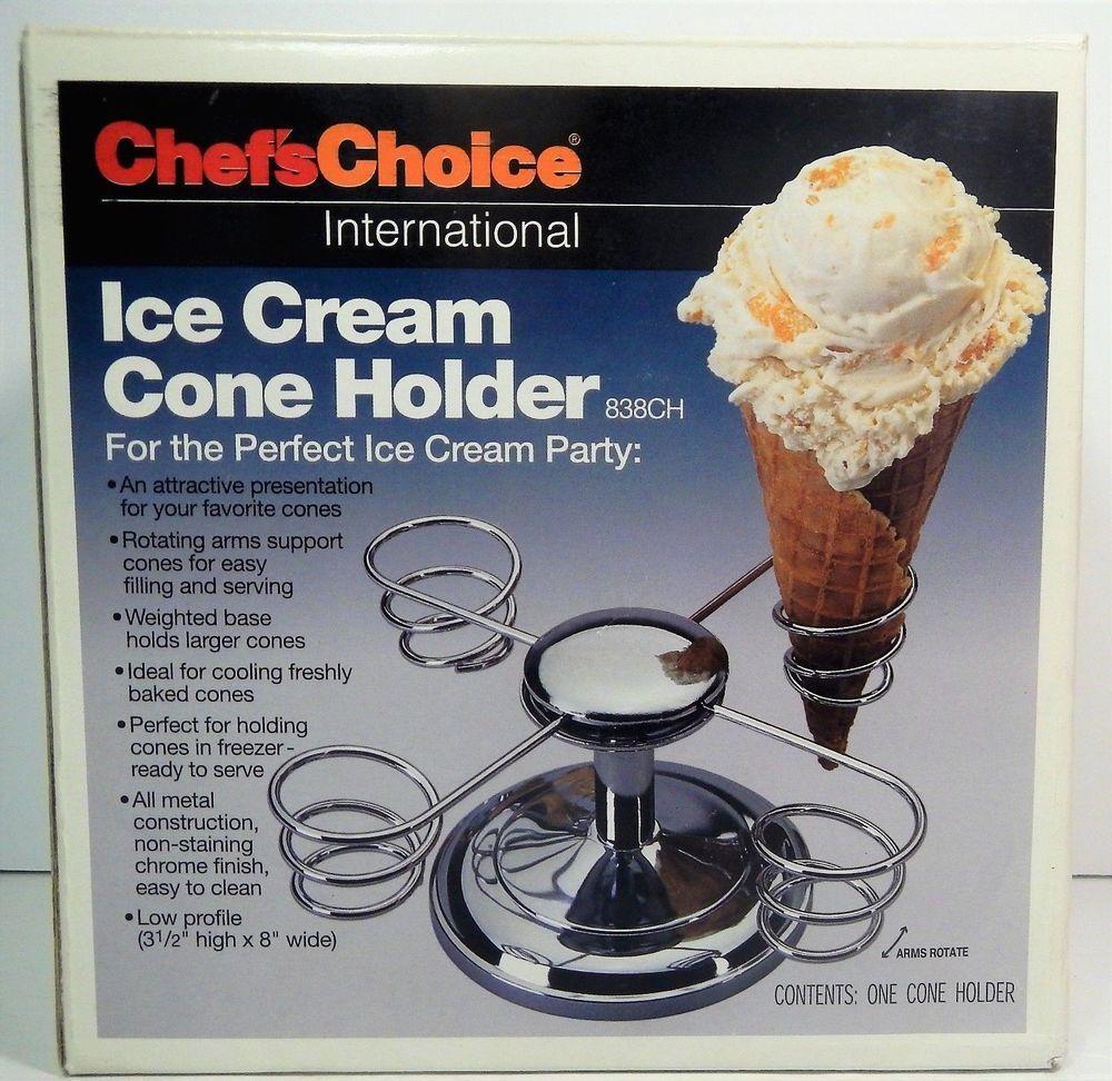 Chef S Choice Intl Ice Cream Waffle Cone Holder 838ch Free