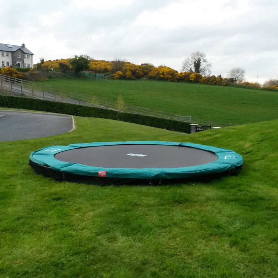 Another Berg In Ground Trampoline Supplied By Jkcs Nenagh Backyard Trampoline In Ground Trampoline Nenagh