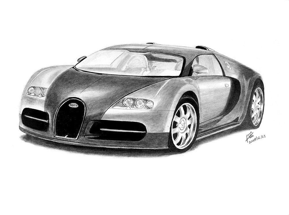 Bugatti Drawing With Pencil Com Imagens Carros