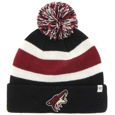 91a644ddc15 Men s Arizona Coyotes  47 Brand Black Breakaway Knit Hat