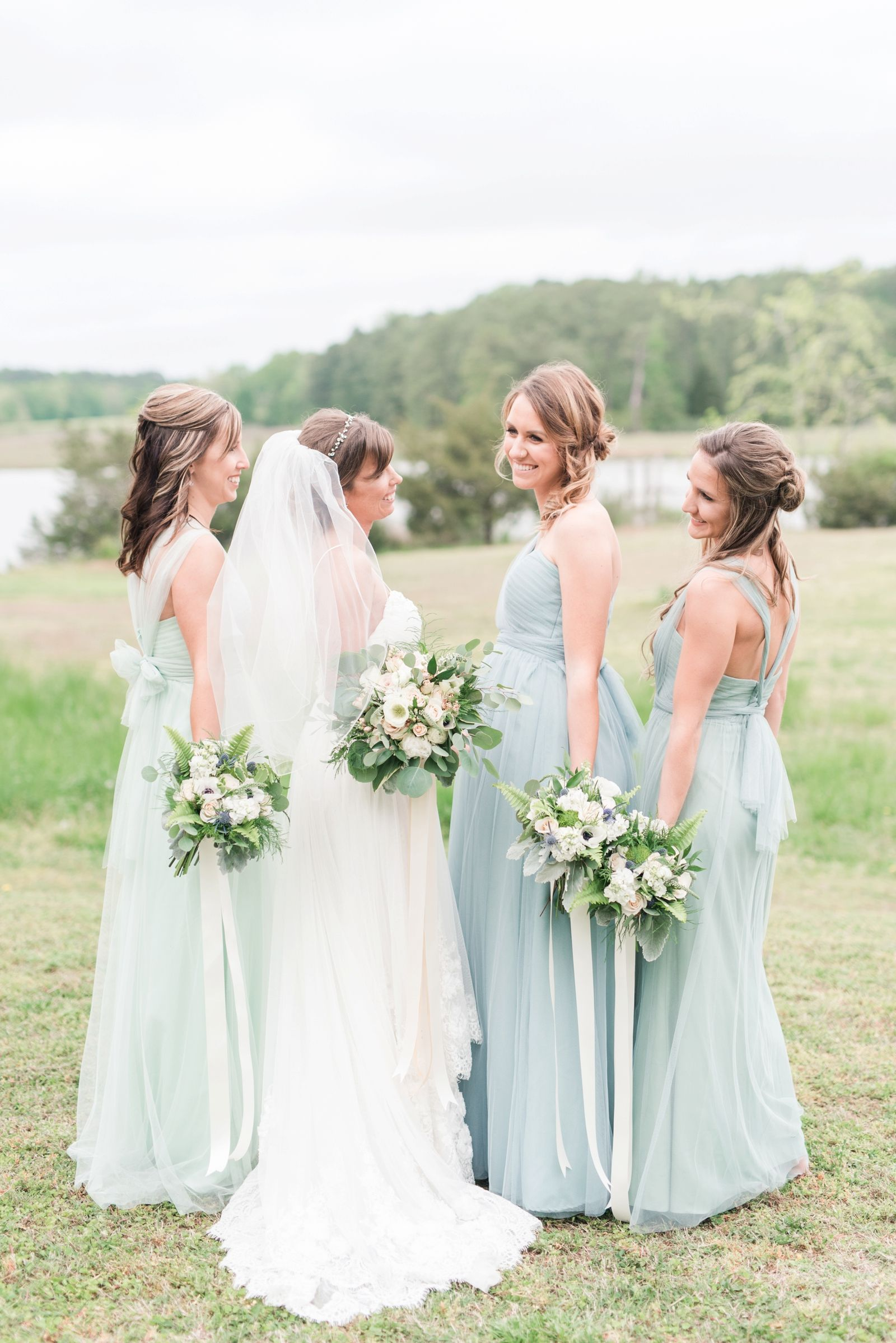 Jenny Yoo Bridesmaids Dresses Virginia Beach Backyard Rustic