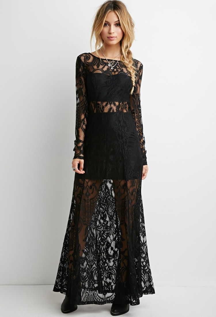 Floral Lace Maxi Dress - Shop All - 2000174723 - Forever 21 EU ...