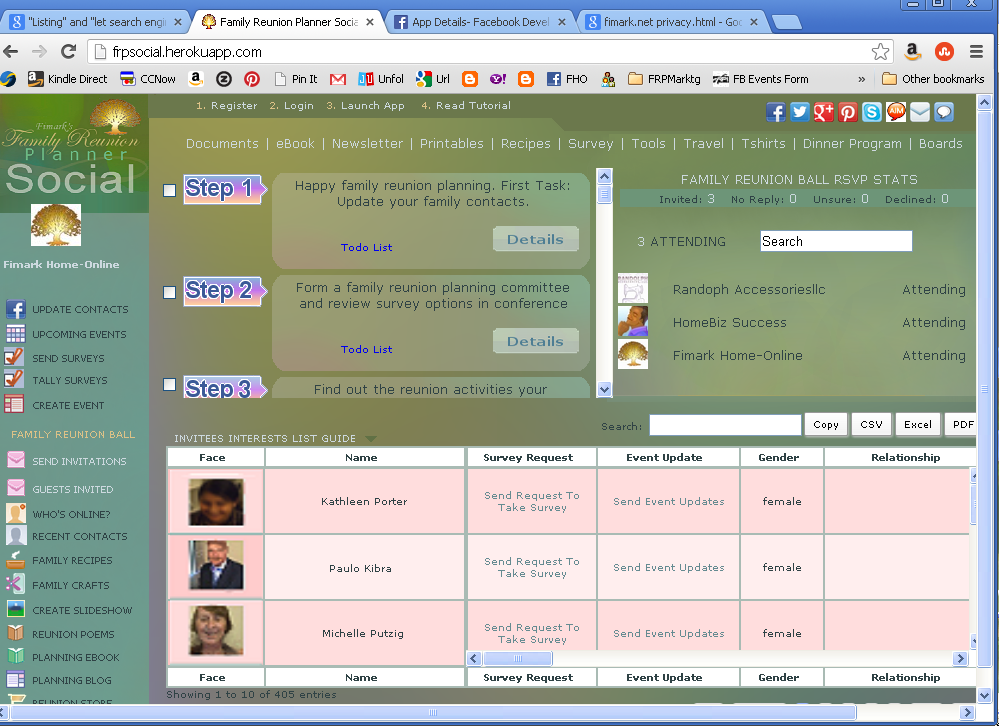 Fimark's Family Reunion Planner Social Web App is about to