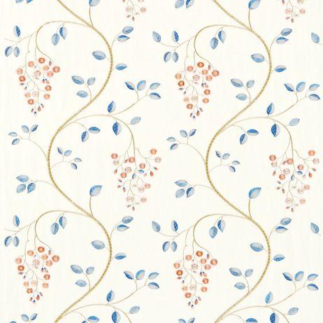Sanderson Asami Embroidery Fabric Dasa232314 Designer