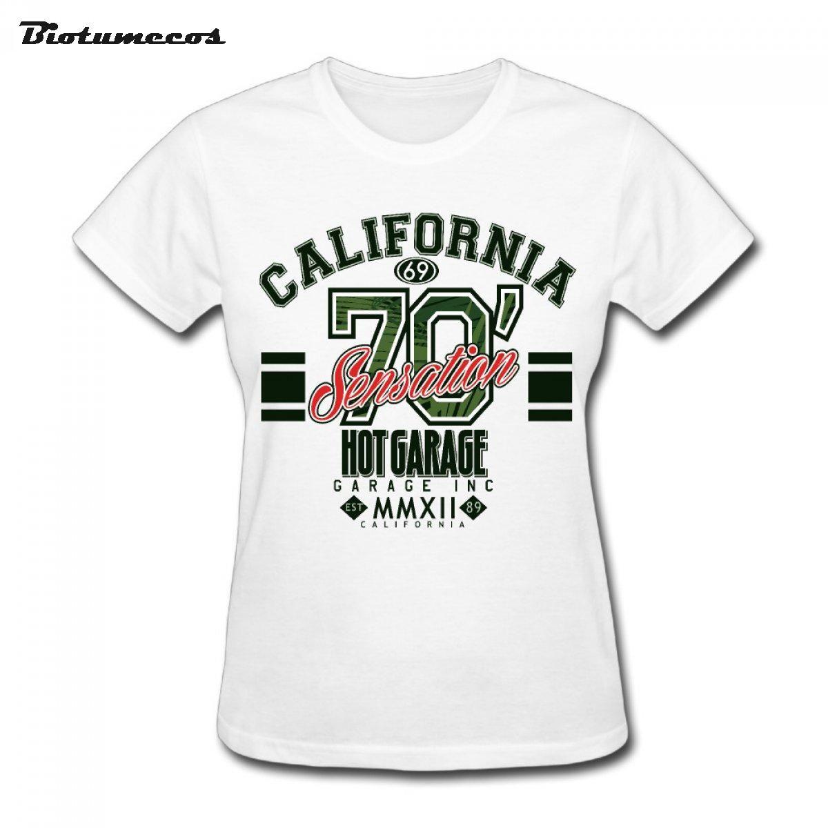 Punk Women T Shirts Summer Short Sleeve California
