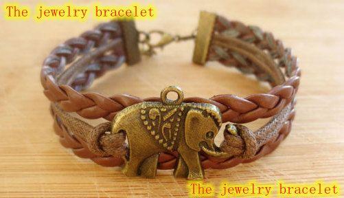 elephant braceletretro bronze lovely by thejewelrybracelet on Etsy, $1.99