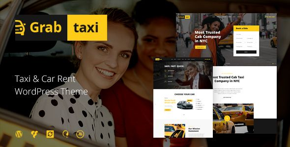 Service By Axiomthemes Cur Version 1 See Change Log At The Bottom Of This Page Grab Taxi Is A Stylish And Ful WordPress Theme With High Cl