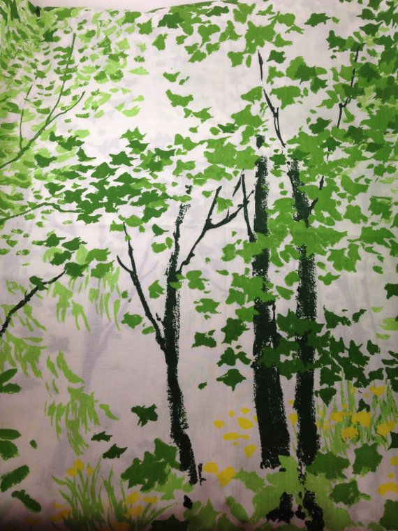 Forest Full Flat Bed Sheet Trees Nature By