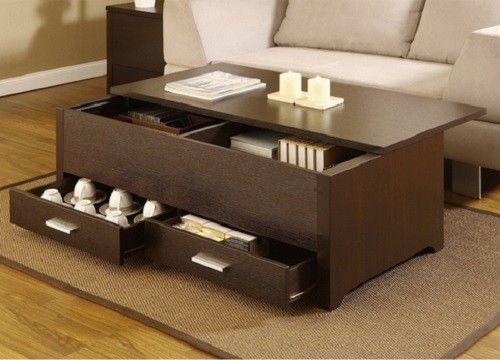 Wood Furniture Tables Living Room Storage Box Coffee Sofa Table Home Drawers New Americaknox Modern
