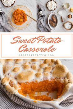 Sweet Potato Casserole with Marshmallows | Dessert for Two | Sweet potato casserole with marshmallows small batch style. A mini baking dish full of the most perfect sweet potato casserole for two. #sweetpotato #casserole #thanksgiving #sidedish  Sweet Potato Casserole with Marshmallows | Dessert for Two | Sweet potato casserole with marshmallows small batch style. A mini baking dish full of the most perfect sweet potato casserole for two. #sweetpotato #casserole #thanksgiving #sweetpotatocasserolewithmarshmallows