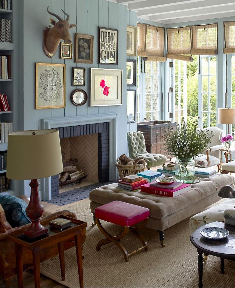 elle decor living room ideas Rita Konig and Gil Schafer in ELLE DECOR, photo Eric Piasecki | For the Home | Pinterest