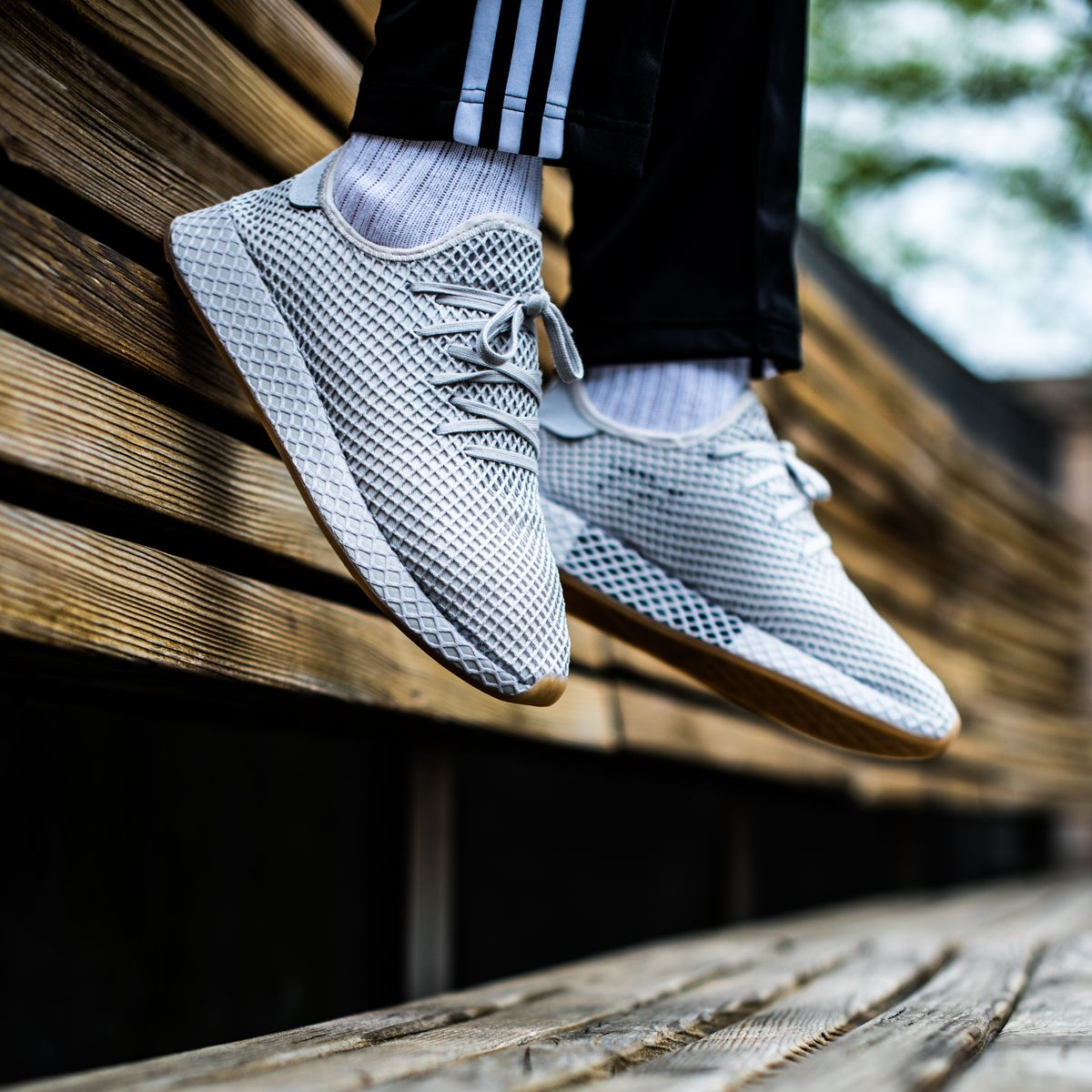sports shoes 581f0 e5bd5 The Adidas Deerupt Runner in a