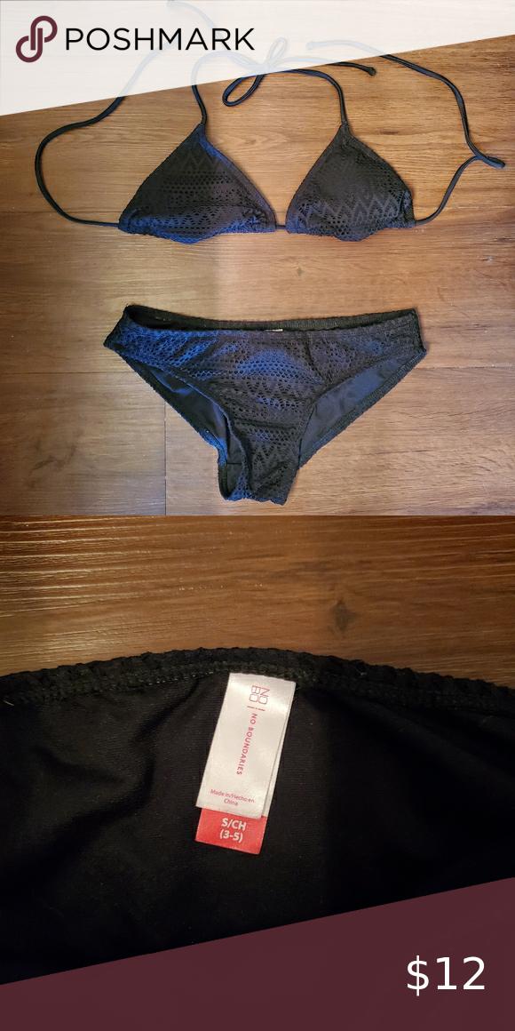 ☀️ 3/$20 No Boundaries Black Lace Detailed Bikini