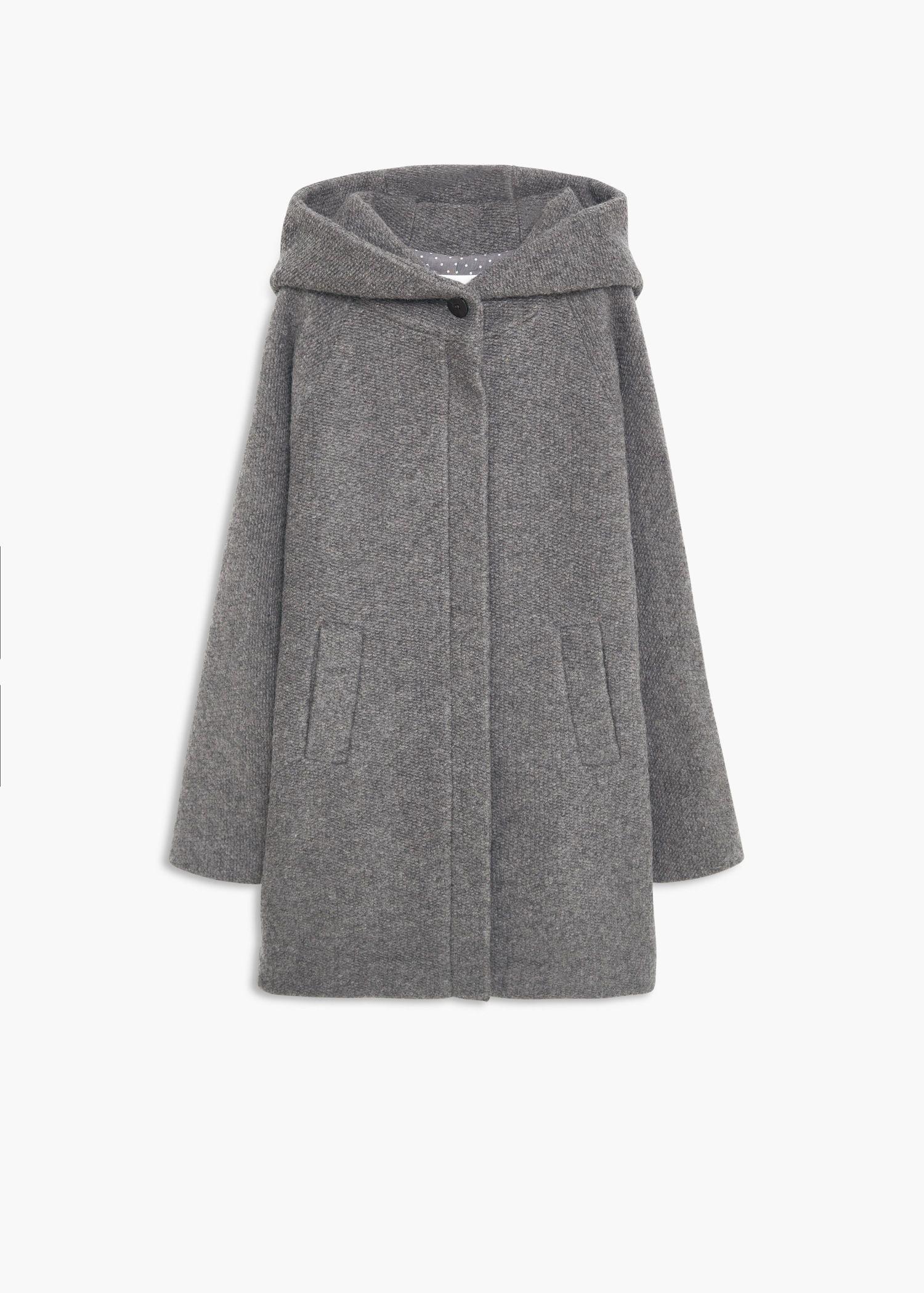 Abrigo lana capucha - Abrigos de Mujer  bff9052fcdf4