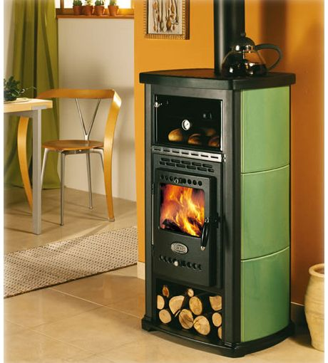 Rad website for tiny home wood stoves. This is gorgeous little wood stove.  Sideros wood burning stoves with oven ... - I Love The Woodstoves On This Website! They Are So Cute--and Some