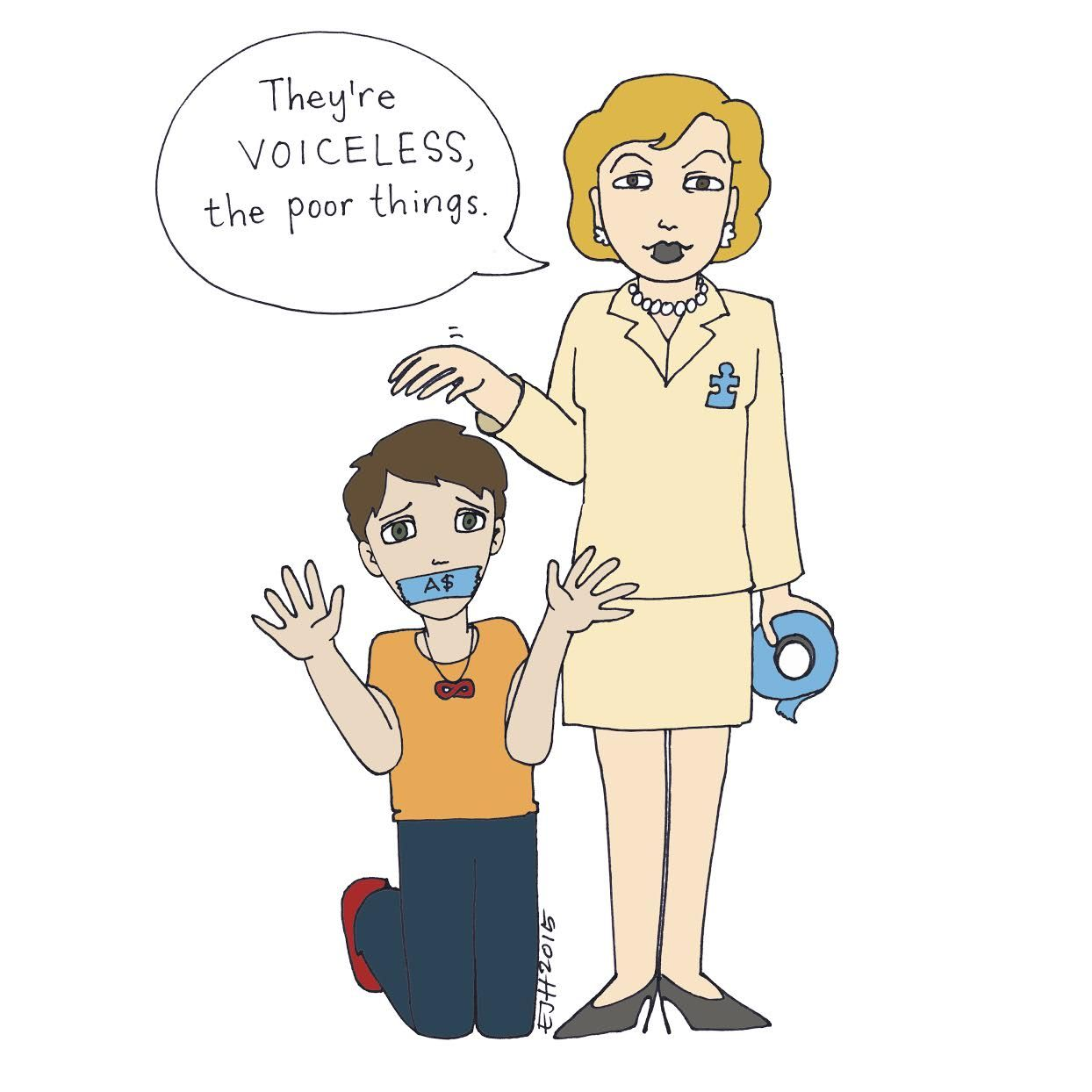This is why i boycottautismspeaks by erin human autism and life image is a cartoon drawing of a kneeling person hands up as if gesturing for biocorpaavc Gallery