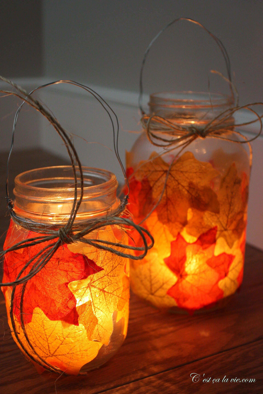 Bricolage, fabriquer des lanternes d'automne avec des ...