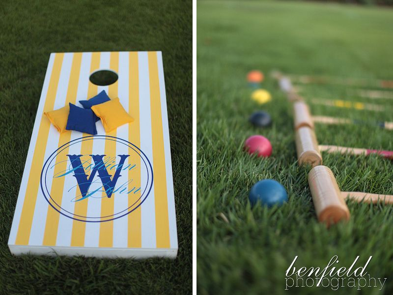 wedding rehearsal dinner decorations | These lawn games were super ...