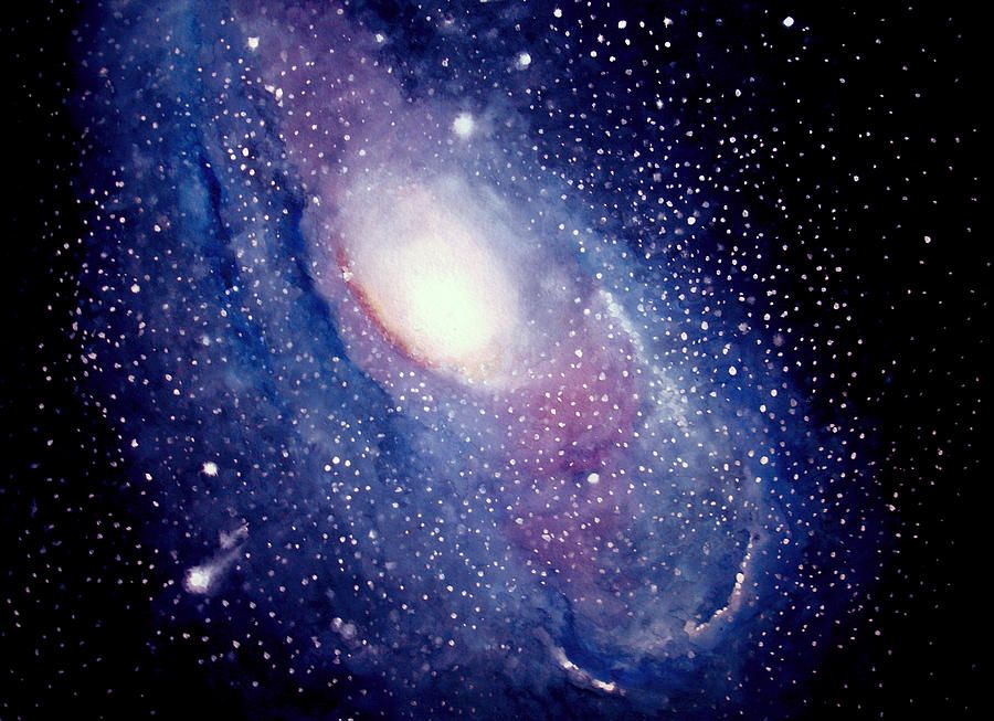 Andromeda Galaxy Painting - Allison Ashton | Connections ...