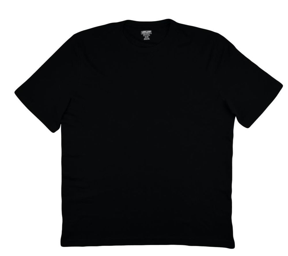 Kirkland black t shirts xl - Kirkland Signature Men T Shirt Crewneck Casual Pima Cotton Black Sz 2x 3x New