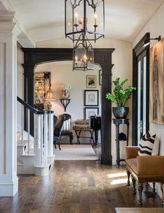 Framed Doorway Hardwood Floors and Lanterns! - Joy Tribout Interior Design Love the dark trim/door/light fixture. & Home Decor: Framed Doorway Hardwood Floors and Lanterns! - Joy ...
