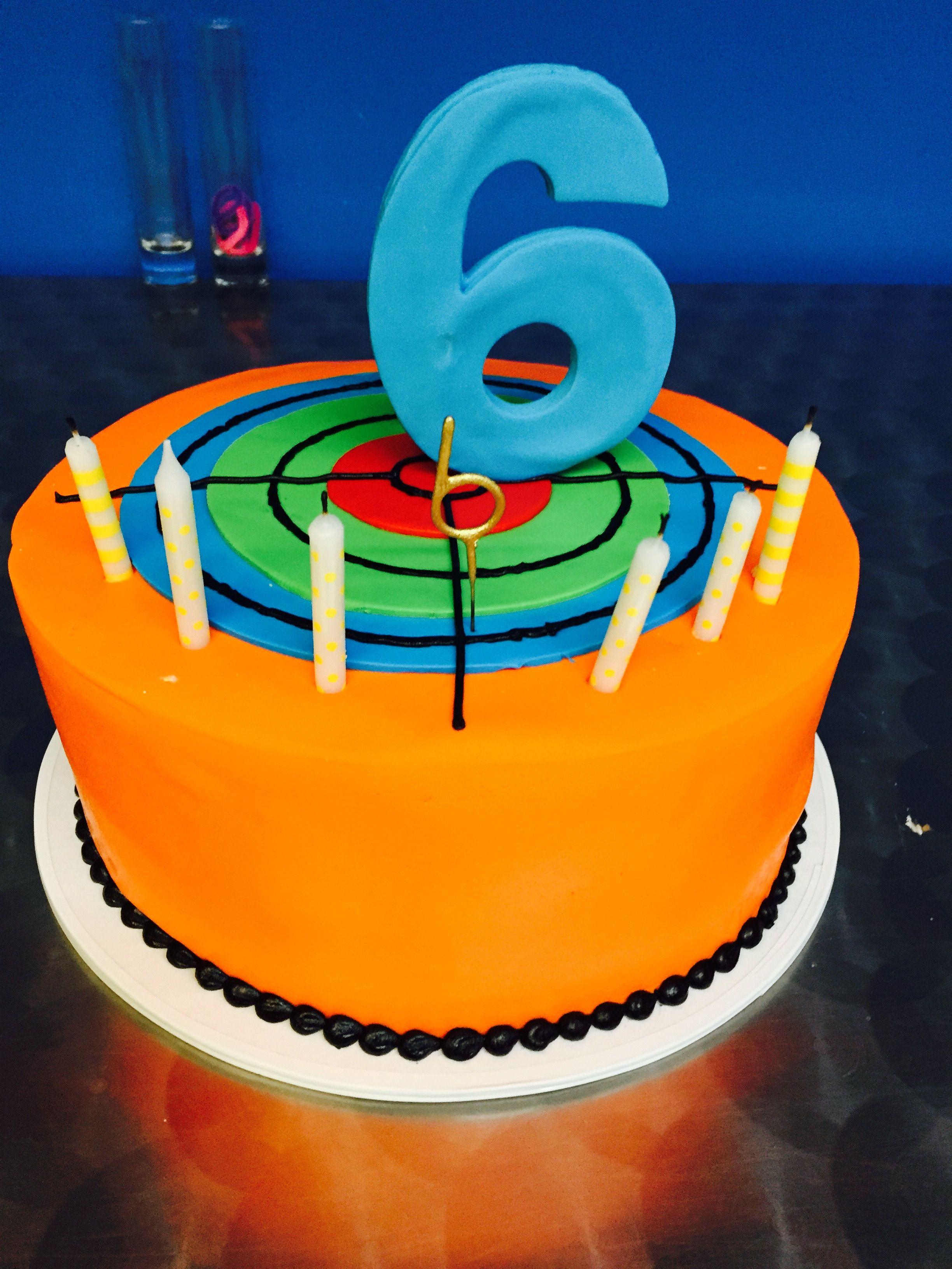 Laser tag target cake birthday Pinterest Birthdays Laser tag
