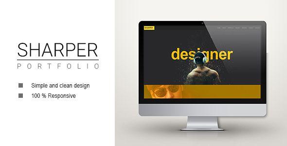 sharper creative portfolio template sharper has features such as