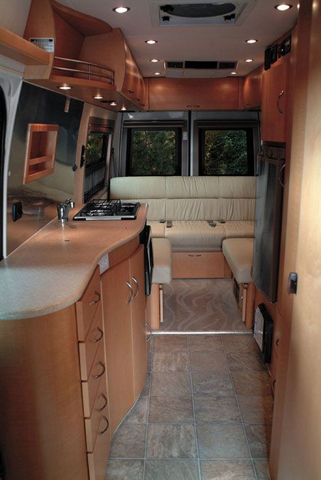 Pleasure Way Dodge Plateau Class B Motorhome Interior.