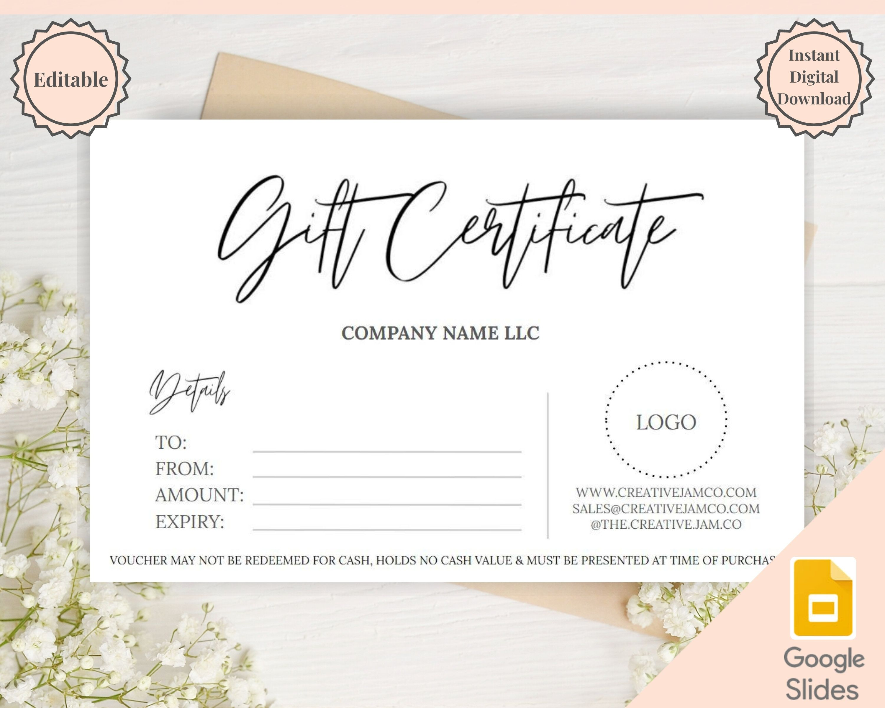 Gift Certificate Template Editable Gift Voucher Gift Card Etsy Gift Card Template Certificate Templates Diy Coupons Gift certificates for small business