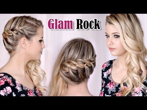 french 4-strand braid hair tutorial. wedding/party half up
